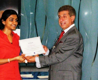 Dr. Priyal Virani awarded Certification