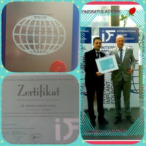 First Dentist in Mumbai to be certified in Immediate Functional Loading from Germany in April 2015
